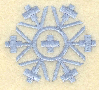 Embroidery Design: Snowflake with center cross1.98w X 1.76h