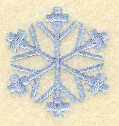 Embroidery Design: Snowflake with outside crosses1.64w X 1.75h