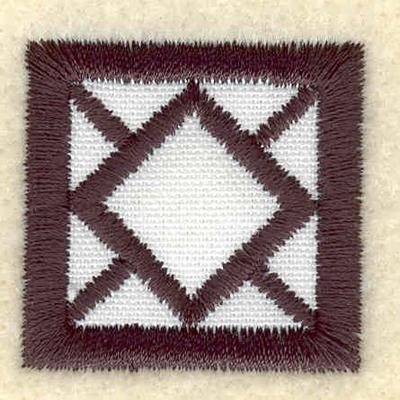 Embroidery Design: Geometric applique square1.26w X 1.24h