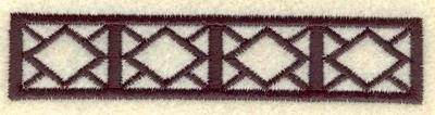 Embroidery Design: Geometric border3.90w X 0.83h