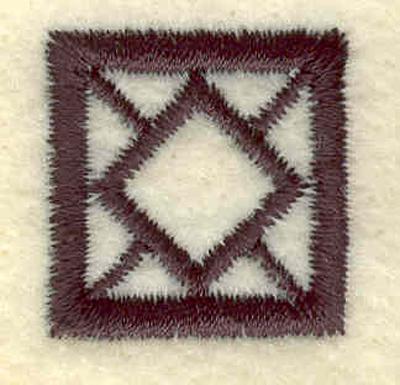 Embroidery Design: Geometric square0.85w X 0.83h