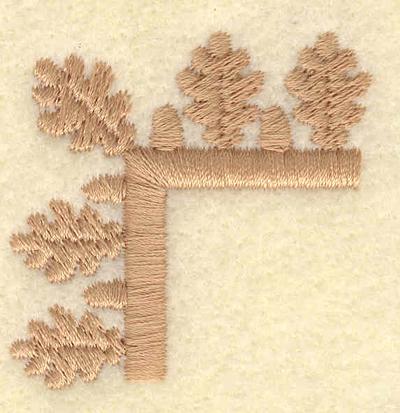Embroidery Design: Small oak leaf and acorn corner1.18w X 1.19h