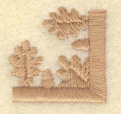 Embroidery Design: Large oake leaf and acorn corner1.75w X 1.73h