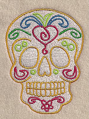 Embroidery Design: Skull B 2.60w X 3.49h