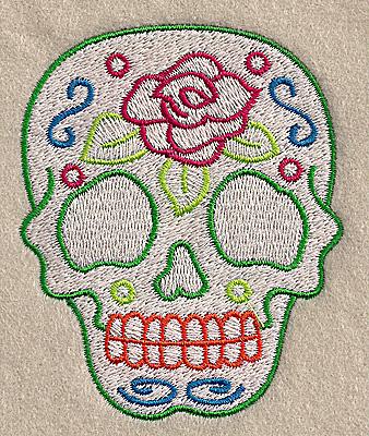 Embroidery Design: Skull C 2.84w X 3.51h