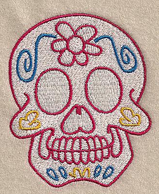 Embroidery Design: Skull D 2.86w X 3.51h