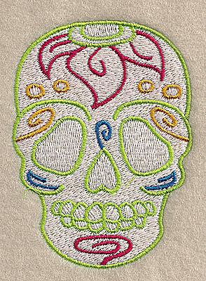 Embroidery Design: Skull E 2.55w X 3.49h