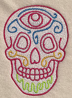 Embroidery Design: Skull F 2.54w X 3.53h