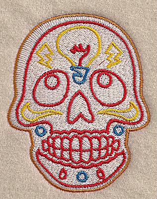 Embroidery Design: Skull J 2.81w X 3.50h