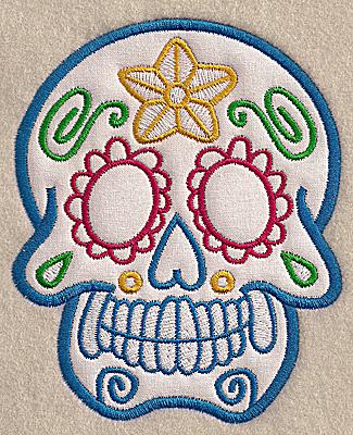 Embroidery Design: Skull A medium applique 4.06w X 4.99h