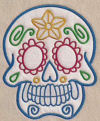 Embroidery Design: Skull A large applique 5.62w X 6.92h