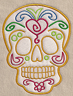 Embroidery Design: Skull B large applique 5.18w X 6.93h