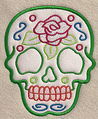 Embroidery Design: Skull C medium applique 4.06w X 4.99h