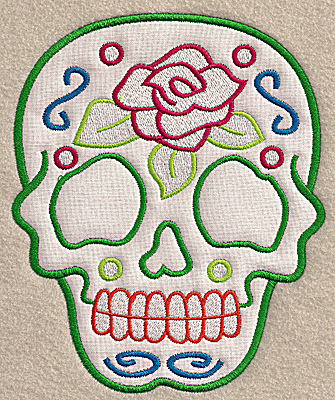 Embroidery Design: Skull C large applique 5.62w X 6.91h