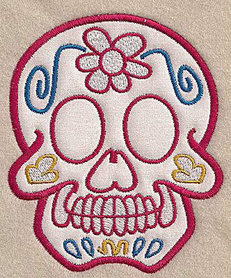 Embroidery Design: Skull D medium applique 4.09w X 4.98h