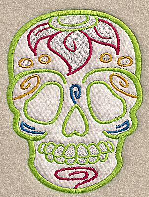 Embroidery Design: Skull E medium applique 3.67w X 4.96h