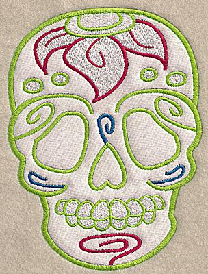 Embroidery Design: Skull E large applique 5.07w X 6.89h