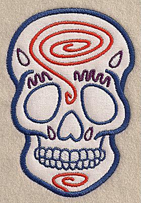 Embroidery Design: Skull G medium applique 3.40w X 4.98h