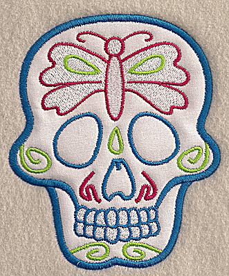 Embroidery Design: Skull I medium applique 4.10w X 4.97h