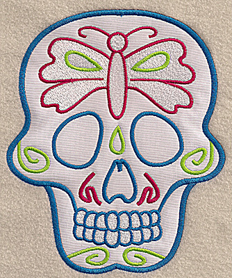 Embroidery Design: Skull I large applique 5.67w X 6.89h