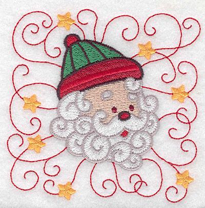 Embroidery Design: Santa head A small 3.83w X 3.86h