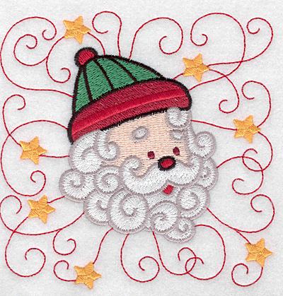 Embroidery Design: Santa head A large 4.91w X 4.96h