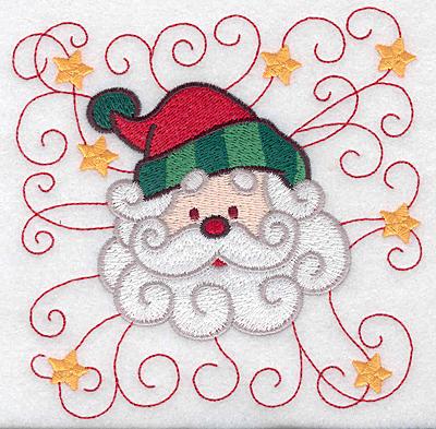 Embroidery Design: Santa head B large 4.94w X 4.94h