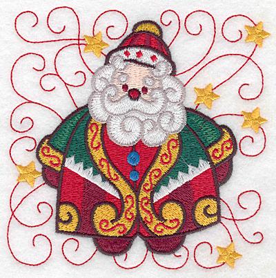 Embroidery Design: Santa A large 4.96w X 4.97h