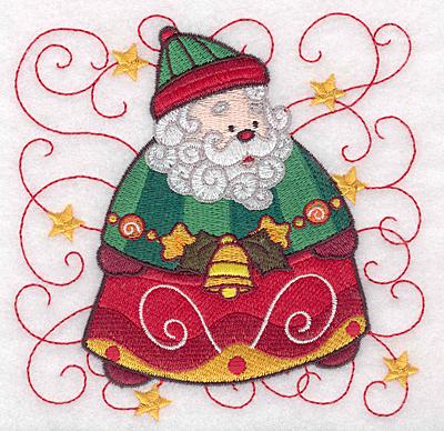 Embroidery Design: Santa B large 4.92w X 4.96h