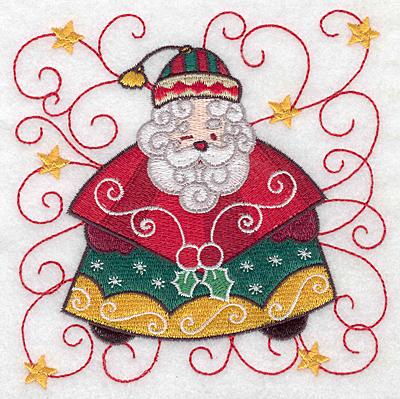 Embroidery Design: Santa C large 4.99w X 5.00h
