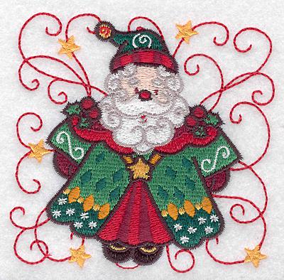 Embroidery Design: Santa D small 3.88w X 3.81h