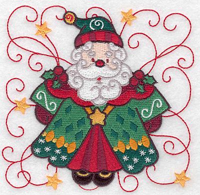 Embroidery Design: Santa D large 4.98w X 4.89h