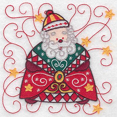 Embroidery Design: Santa E large 5.00w X 4.98h