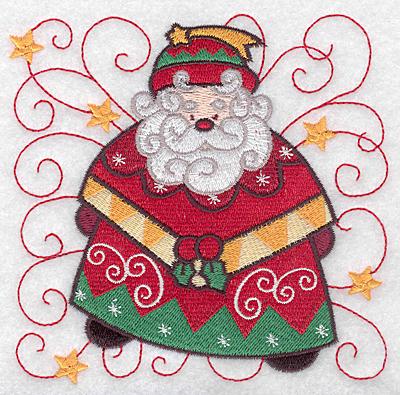 Embroidery Design: Santa F large  4.94w X 4.91h