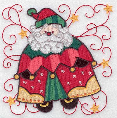Embroidery Design: Santa F large  4.97w X 5.00h