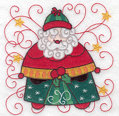 Embroidery Design: Santa G large 4.95w X 5.00h