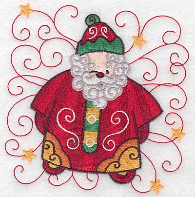 Embroidery Design: Santa H large 5.00w X 5.00h