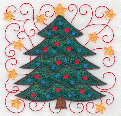 Embroidery Design: Christmas tree large 4.98w X 4.98h