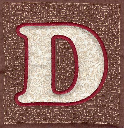 Embroidery Design: D Stipple A applique4.00w X 3.82h