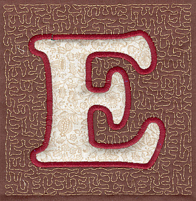 Embroidery Design: E Stipple A applique3.94w X 3.82h