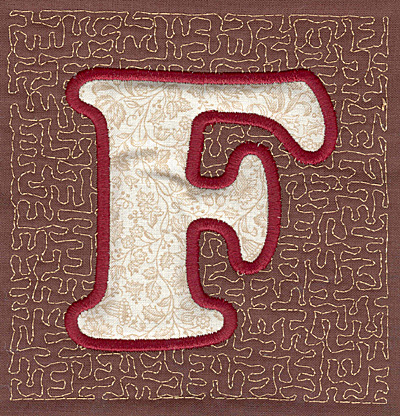 Embroidery Design: F Stipple A applique3.94w X 3.82h