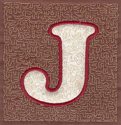 Embroidery Design: J Stipple A applique4.00w X 3.82h