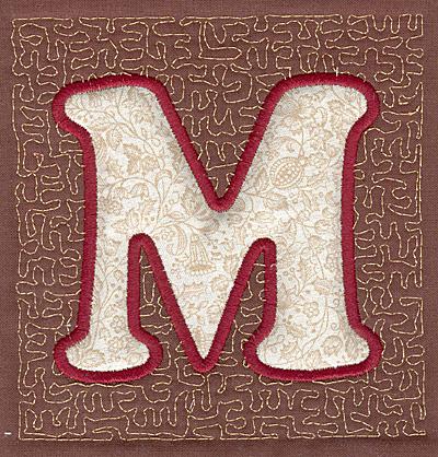 Embroidery Design: M Stipple A applique3.94w X 3.82h