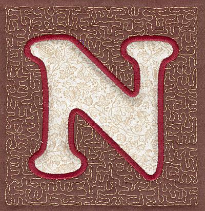 Embroidery Design: N Stipple A applique3.94w X 3.82h