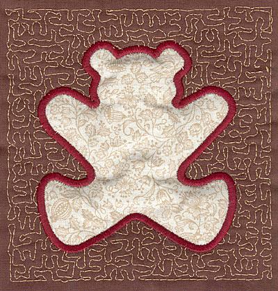 Embroidery Design: Teddy Bear Stipple A3.94w X 3.82h