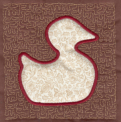 Embroidery Design: Duck Stipple A4.00w X 3.82h