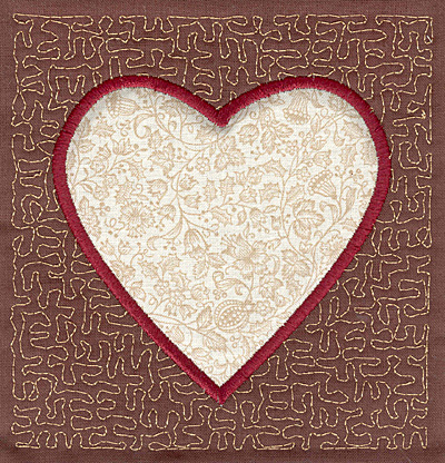 Embroidery Design: Heart Stipple A4.00w X 3.82h