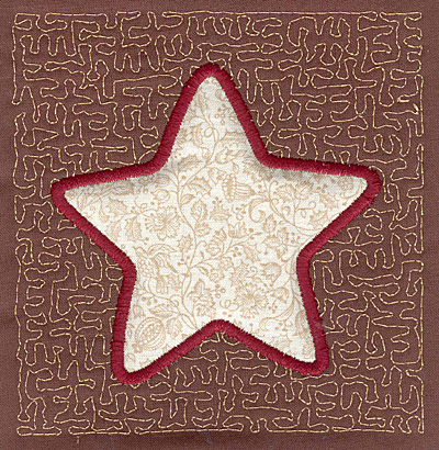 Embroidery Design: Star Stipple A3.97w X 3.82h