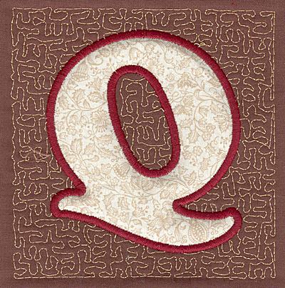 Embroidery Design: Q Stipple A3.94w X 3.82h