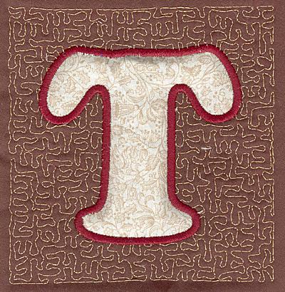 Embroidery Design: T Stipple A3.94w X 3.82h